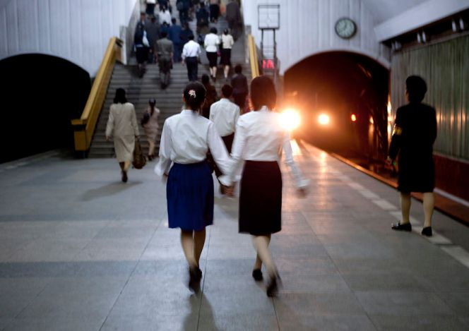 Pyongyang's Subway System Is The Deepest In The World As It Doubles As A Bomb Shelter. Someone Saw Me Taking This Picture And Told Me To Delete It Since It Included The Tunnel