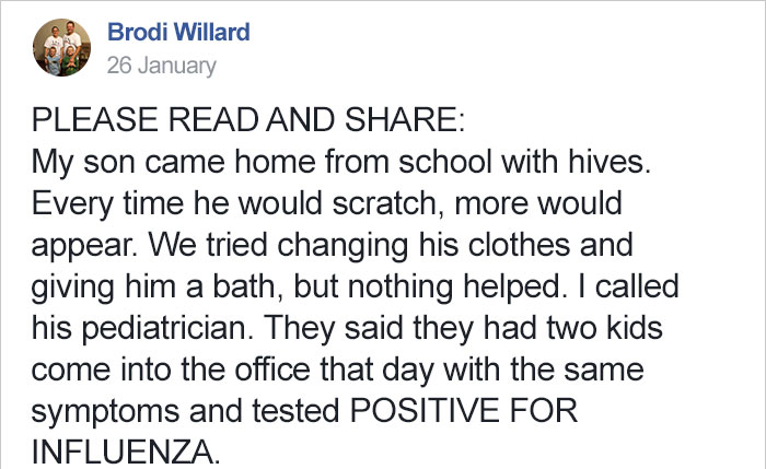 Mom Warns Other Parents About The Unusual Flu Symptom Her Son ...