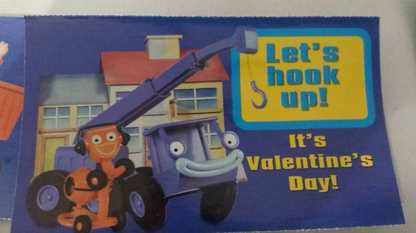 My 5 Year Old Received This Valentine Today At School
