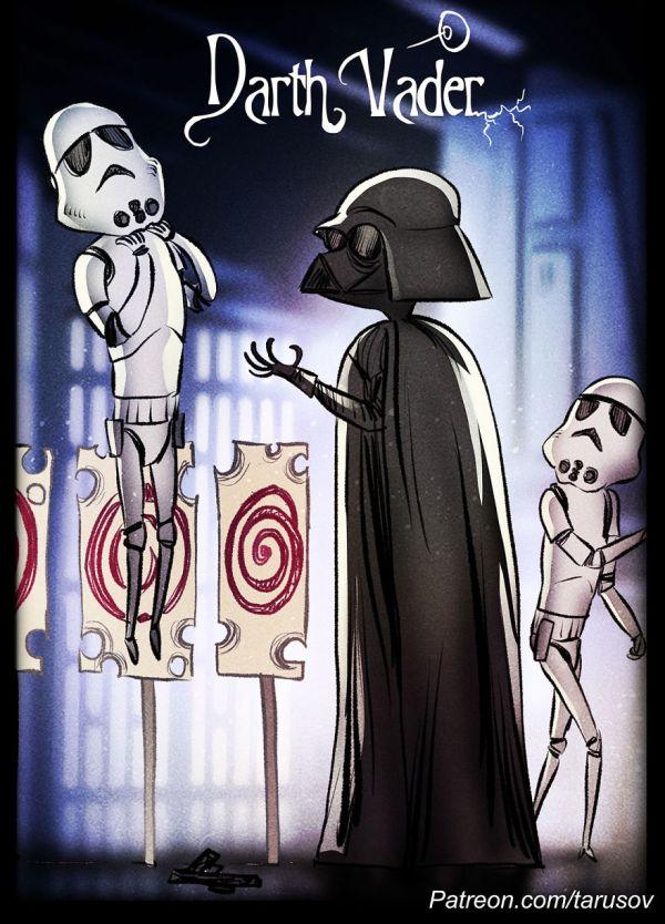 Tim Burton Style Star Wars