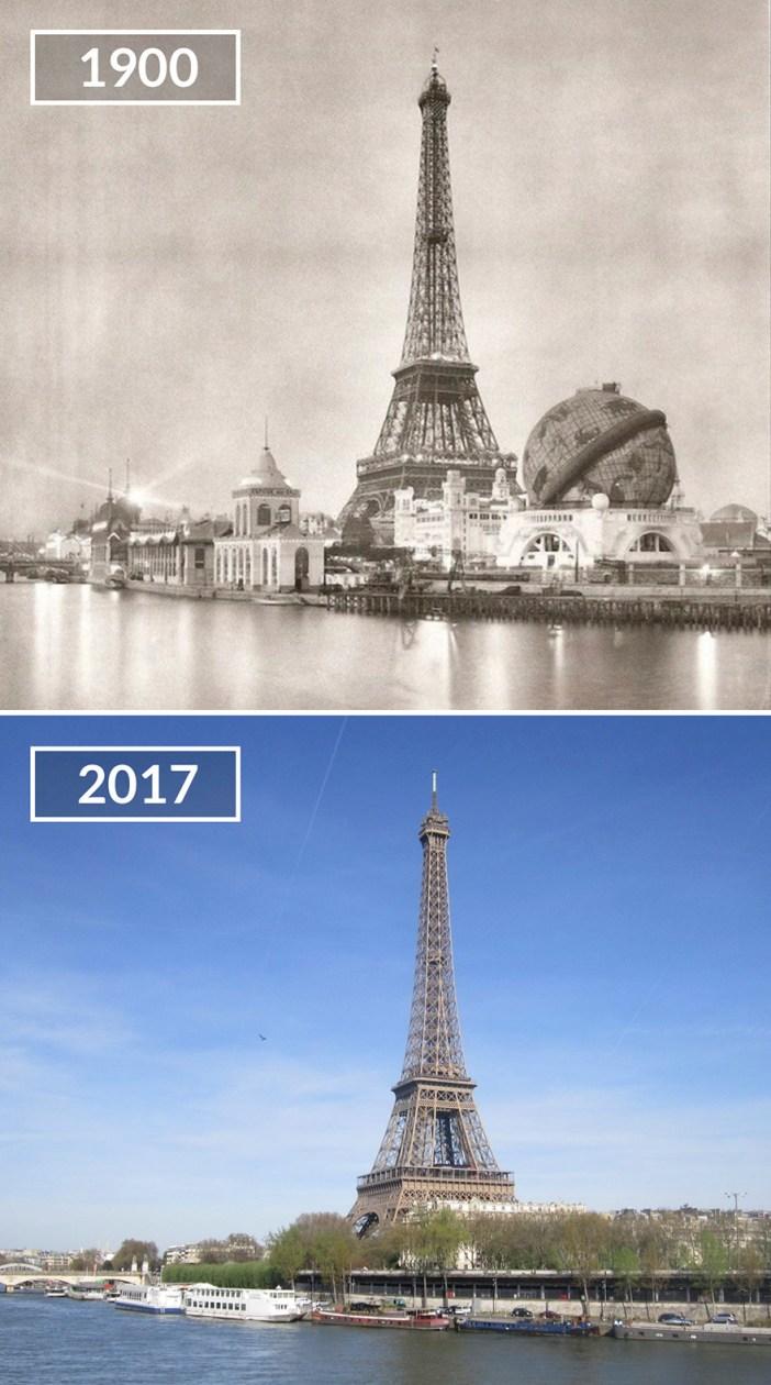 Tour Eiffel And Globe Céleste
