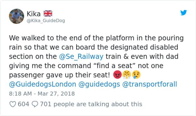 blind-man-guide-dog-no-one-offers-train-seat-london-amit-patel-1-5abde4415f671__700 Blind Man Left In 'Tears' After Nobody Gave Up Their Seat For Him And His Guide Dog On The Train Design Random