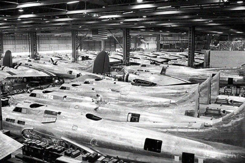 "boeing fake rooftop town world war seattle 14 5aa6556e5aa91  880 - 2ª Guerra: EUA projeta um ""bairro falso"" para eliminar possíveis ataques aéreos"