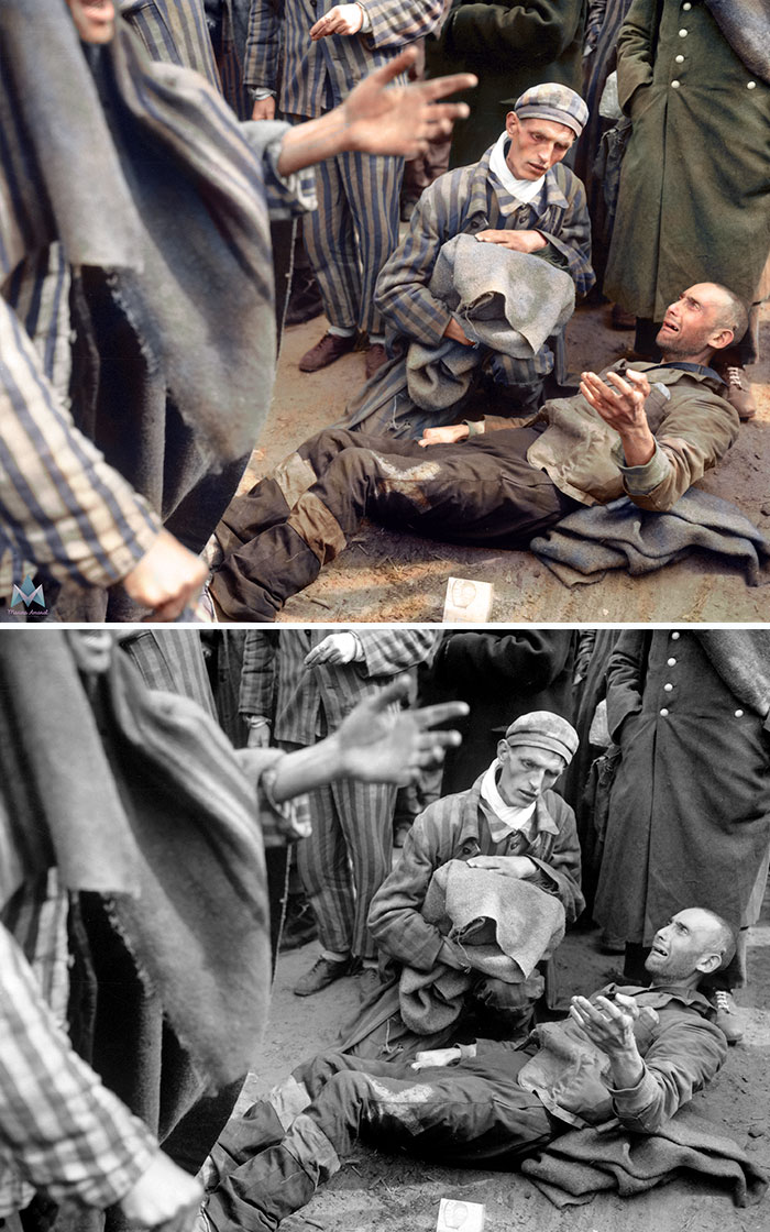 colorized-auschwitz-girl-czeslava-kwoka-black-white-historic-photos-marina-amaral-5aaa3fb98c38a__700 The Last Photos Of A 14-Year-Old Polish Girl In Auschwitz Get Colorized, And They'll Break Your Heart Design Photography Random