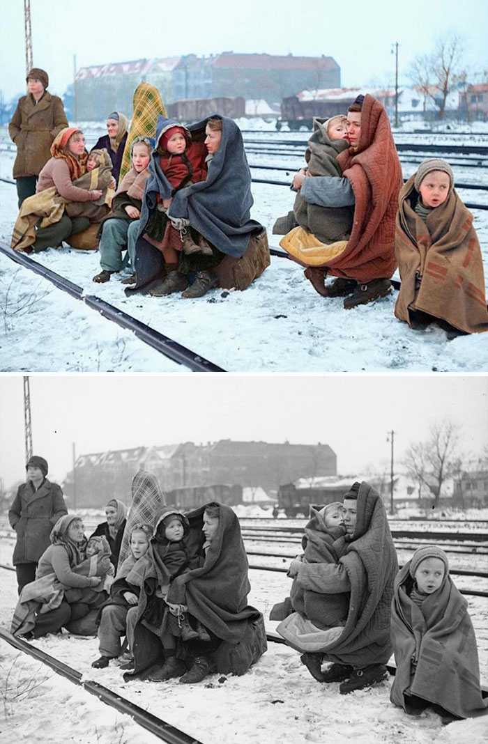 colorized-auschwitz-girl-czeslava-kwoka-black-white-historic-photos-marina-amaral-5aaa3fc6d58d4__700 The Last Photos Of A 14-Year-Old Polish Girl In Auschwitz Get Colorized, And They'll Break Your Heart Design Photography Random