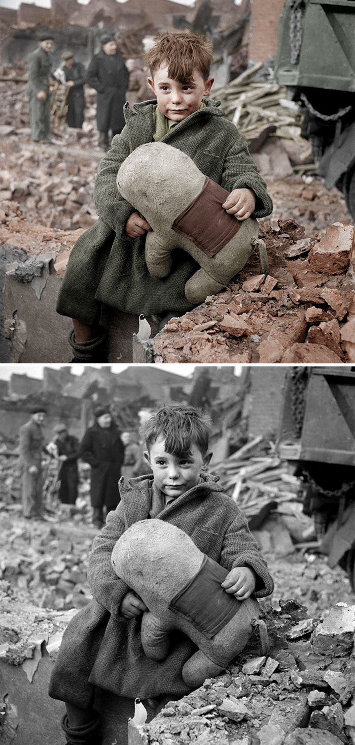 colorized-auschwitz-girl-czeslava-kwoka-black-white-historic-photos-marina-amaral-5aaa40cef1db7__700 The Last Photos Of A 14-Year-Old Polish Girl In Auschwitz Get Colorized, And They'll Break Your Heart Design Photography Random