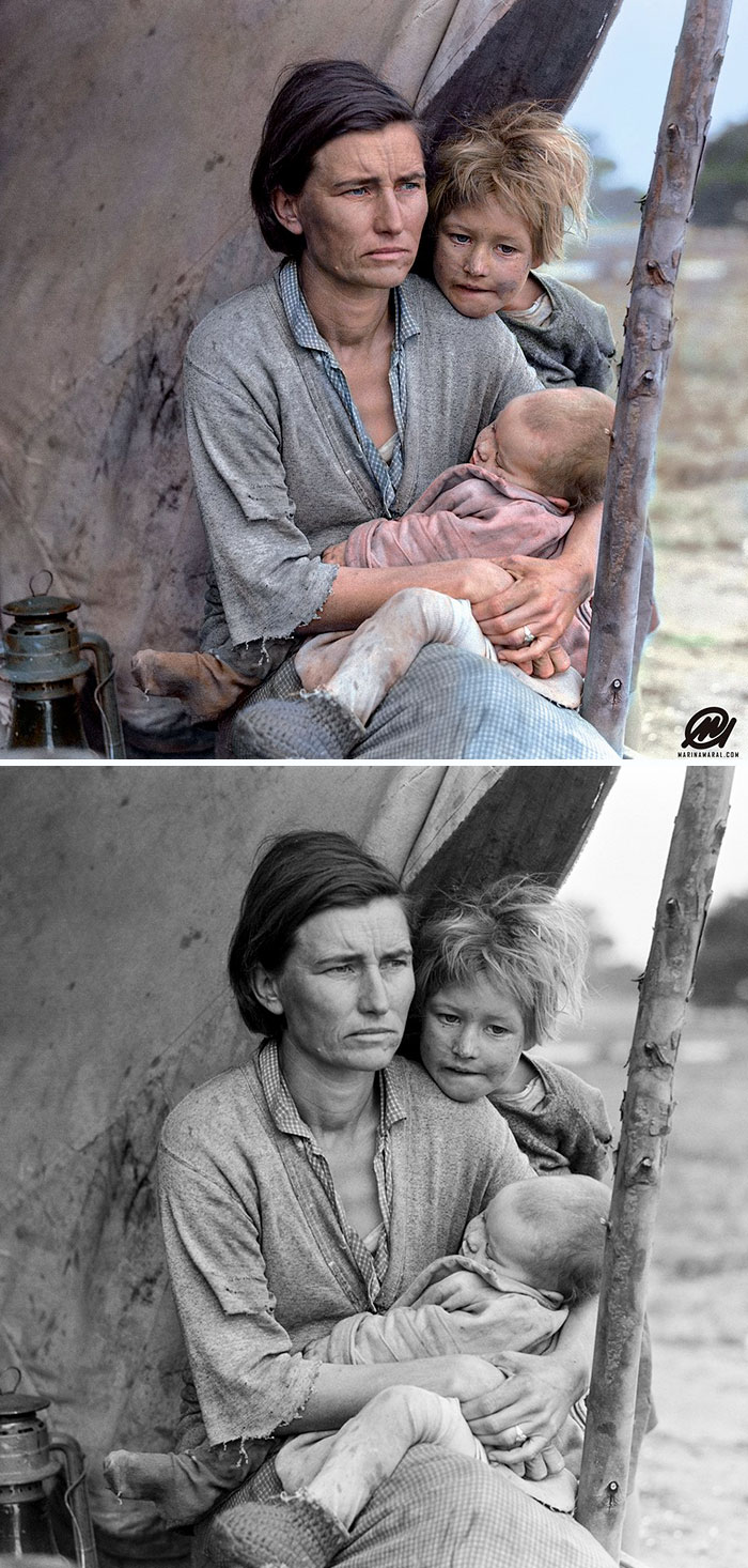 colorized-auschwitz-girl-czeslava-kwoka-black-white-historic-photos-marina-amaral-5aaa41461f3b1__700 The Last Photos Of A 14-Year-Old Polish Girl In Auschwitz Get Colorized, And They'll Break Your Heart Design Photography Random