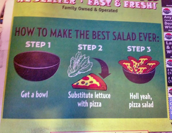 Ad For Local Pizza Shop. They're Getting My Business