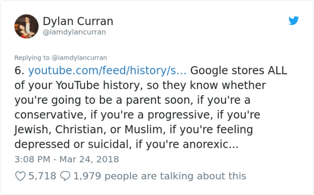 facebook-google-data-know-about-you-dylan-curran-7 The Internet Is In Shock After This Guy's Post Reveals How Much Facebook And Google Knows About You Design Random