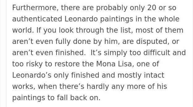 art-painting-restoration-mona-lisa-tumblr-post-21 People Won't Stop Demanding The Mona Lisa To Be Cleaned, So Someone Just Explained What Would Happen Art Design Random