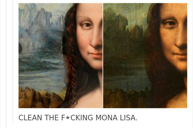 art-painting-restoration-mona-lisa-tumblr-post-7 People Won't Stop Demanding The Mona Lisa To Be Cleaned, So Someone Just Explained What Would Happen Art Design Random