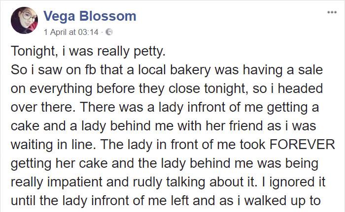 bakery-fat-shamed-girl-cupcakes-revenge-vega-blossom-indiana-23 Teenager Fat-Shamed In A Bakery Comes Up With A Genius Revenge On The Spot Design Random