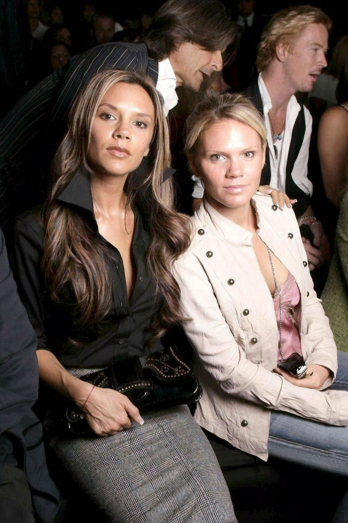 Victoria Beckham With Her Sister Louise Adams