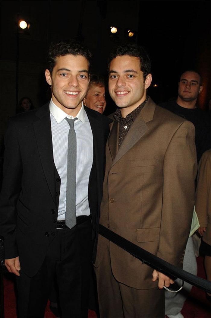 Rami Malek And His Twin Brother Sami