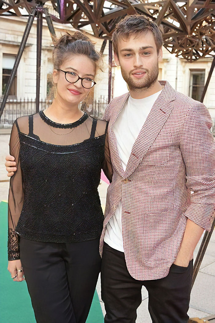 Douglas Booth With His Sister Abigail