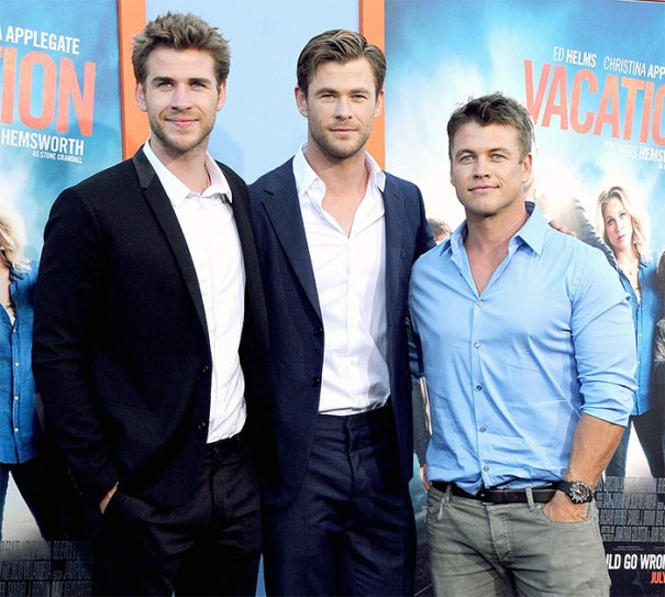 Chris Hemsworth With His Brothers Liam And Luke