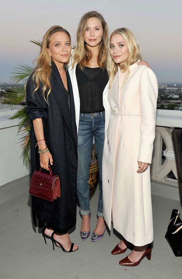 Mary-Kate And Ashley Olsen With Their Younger Sister Elizabeth