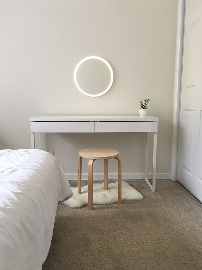 My Ultra-Minimalist Vanity, Courtesy Of Ikea And Amazon