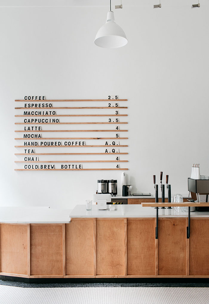 Minimalist Coffee Shop