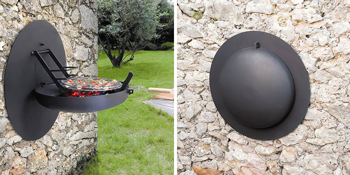 Fold-Out Minimalist BBQ For Space Saving