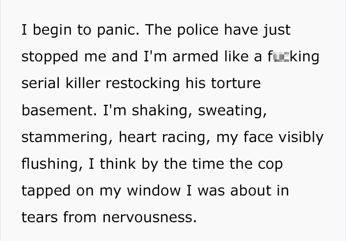 police-stop-murder-weapons-props-4-5ac4b7e2e9f48__700 Guy Gets Pulled Over By Police, Suddenly Realizes He Has Murder Weapon Props In Passenger Seat Design Random