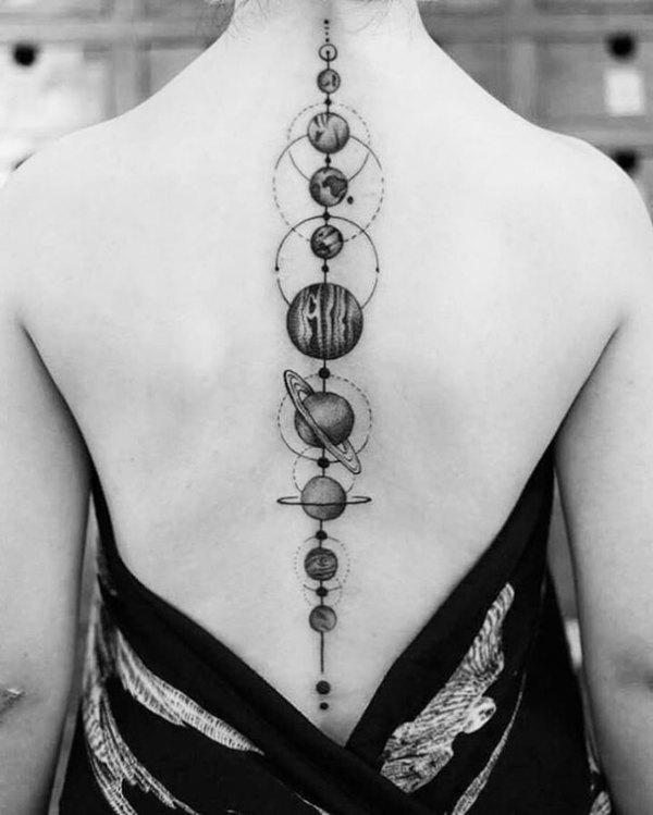 of spine tattoo ideas