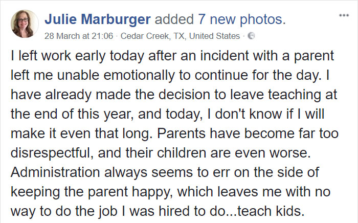 teacher-blames-parents-disrespectful-students-julie-marburger-texas-1-5ac71f2bb600d__700 This Teacher Had Enough Of The BS Parents And Kids Give Her, So Before Quitting She Posted This Epic Rant Online Design Random