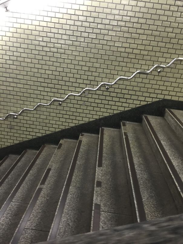 This Japanese Handrail Bends With The Steps