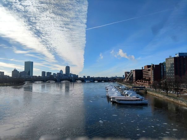 Photo I Took Of The Charles River Looks Like Two Different Pictures