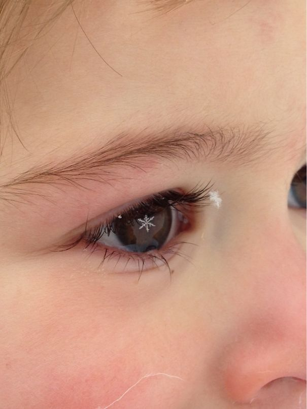 I Happened To Catch This Photo Of A Snowflake On My Daughters Eyelash Last Winter; It Wasn't There For Long