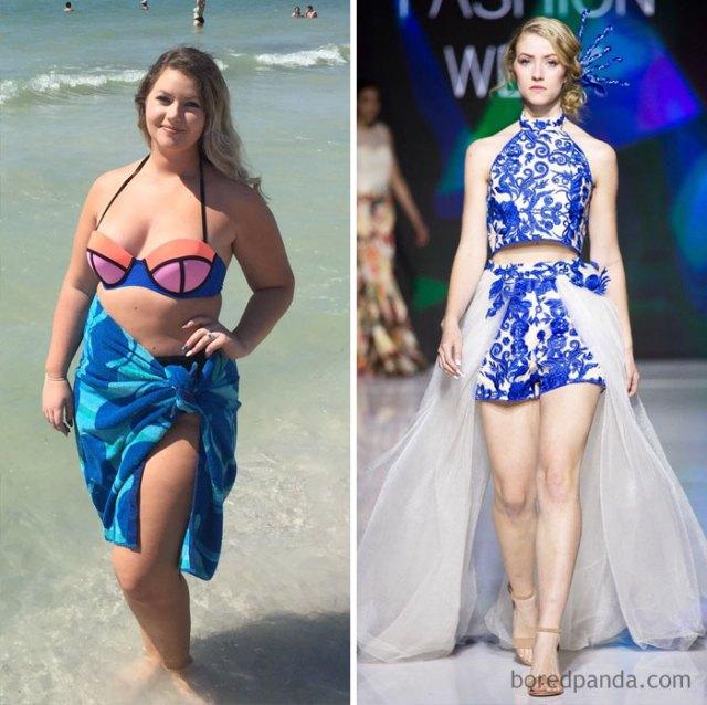 He perdido 41 kilos en 1 año y ahora he desfilado en la semana de la moda de mi ciudad