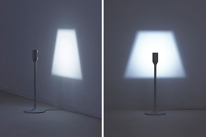 Lamp That Projects Its Own Shade