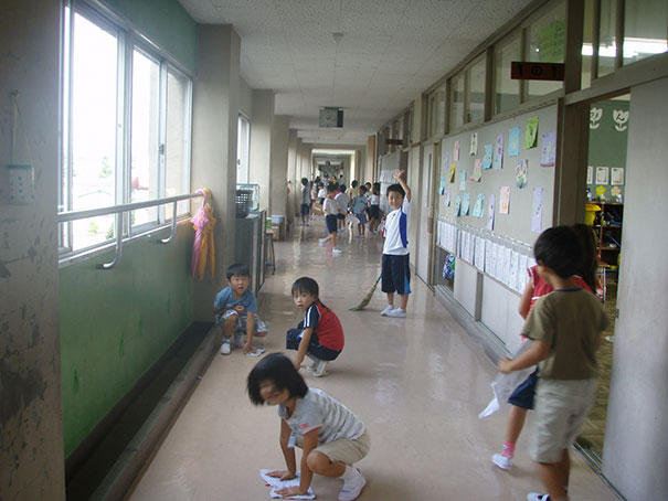 Most Japanese Schools Don't Have Custodians. Instead, The Students Do The Cleaning Themselves As A Part Of Showing Gratitude To The School And Learning How To Become More Productive Members Of Society