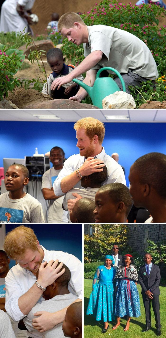El príncipe Harry invitó a un huérfano que conoció 14 años atrás en África a la boda real