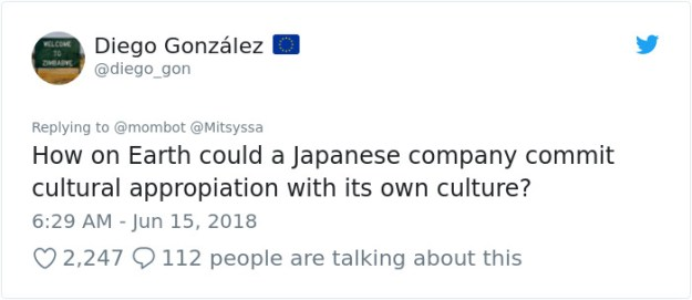 1007510265498398720-png__700 Woman Accuses Sony Of Insulting Japanese Culture By Hiring A White American In Japanese Clothes, Doesn't Expect This Reply Design Random
