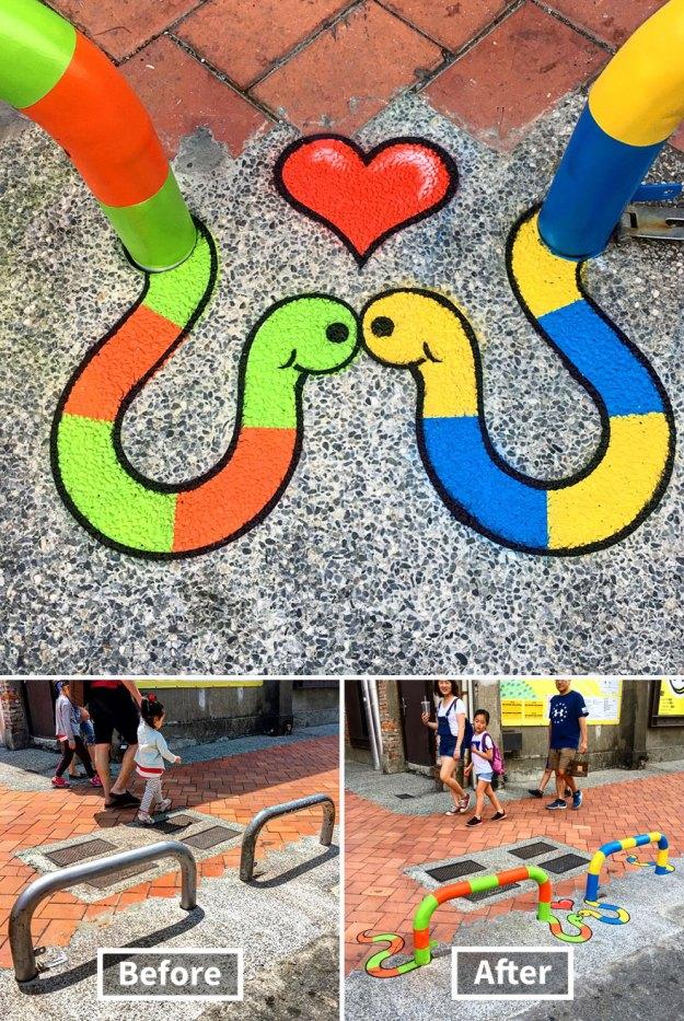 street-art-tom-bob-new-york-city-14-5b169f6bad4a4__880 Genius Street Artist Is Running Loose In New York, And Let's Hope Nobody Catches Him (30+ New Pics) Art Design Random