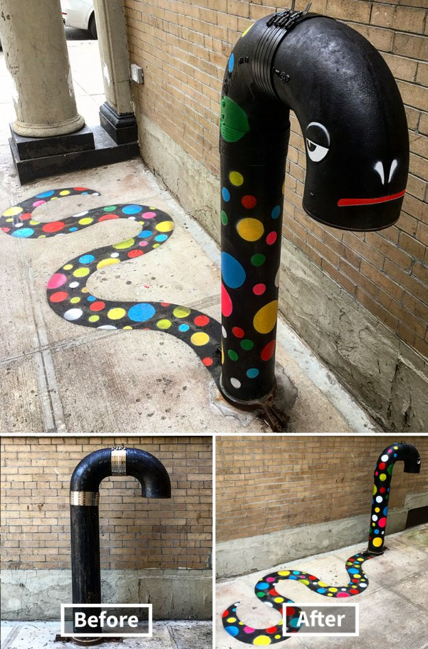 street-art-tom-bob-new-york-city-30-5b169f94e7ae6__880 Genius Street Artist Is Running Loose In New York, And Let's Hope Nobody Catches Him (30+ New Pics) Art Design Random
