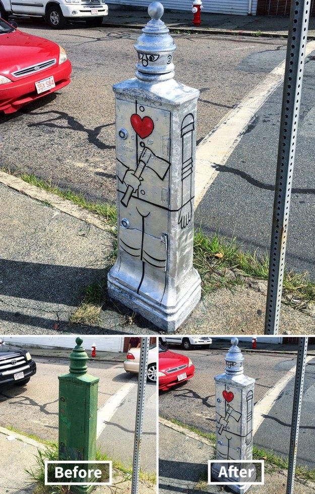 street-art-tom-bob-new-york-city-38-5b169fb10eae1__880 Genius Street Artist Is Running Loose In New York, And Let's Hope Nobody Catches Him (30+ New Pics) Art Design Random