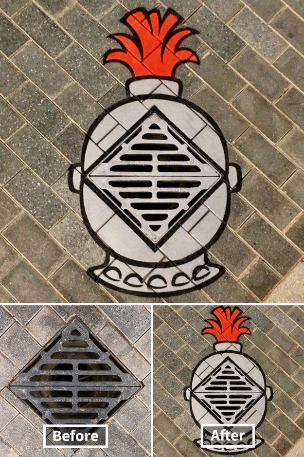 street-art-tom-bob-new-york-city-43-5b169fbfdab0c__880 Genius Street Artist Is Running Loose In New York, And Let's Hope Nobody Catches Him (30+ New Pics) Art Design Random