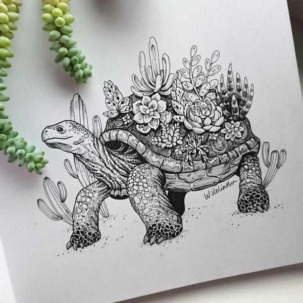Create Intricate Drawings Of Animals Embedded With