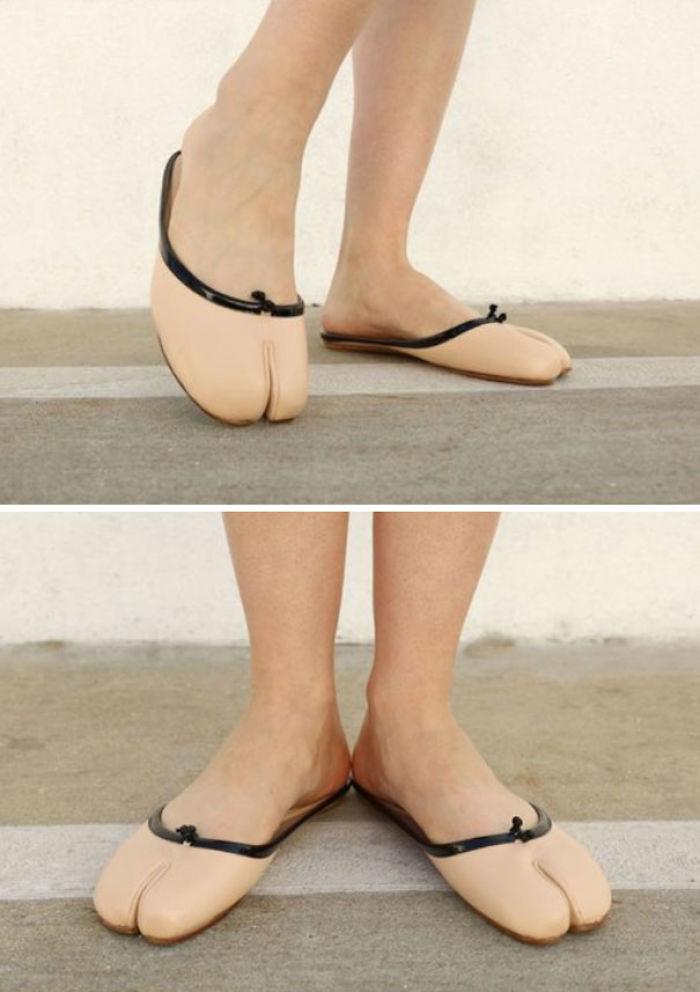 Nunca pensé que vería zapatos que parecían cameltoes reales, pero aquí estamos ...