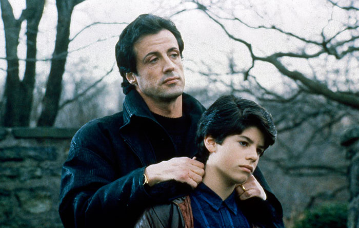 At The End Of Rocky Iv Rockys Son Born In  However At The Beginning Of Rocky V Which In The Movies Time Line Takes Place Only A Week After