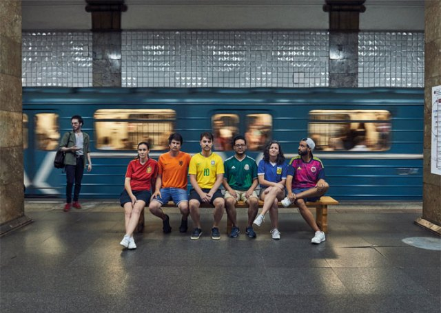 In Russia, The Act Of Displaying The LGBTQ+ Flag In Public Can Get You Arrested. So Six Activists From Latin America Resorted To Creativity: Wearing Uniforms From Their Countries' Football Teams, Turning Themselves Into The Flag And Walking Around Moscow With Pride