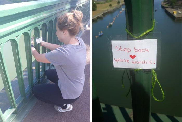 Un adolescente escribió más de 40 notas sentidas y las colocó en las barandas del puente Wearmouth de Inglaterra para ofrecer consuelo a las personas que enfrentan una crisis de salud mental. La policía la ha acreditado con salvar 6 vidas hasta ahora