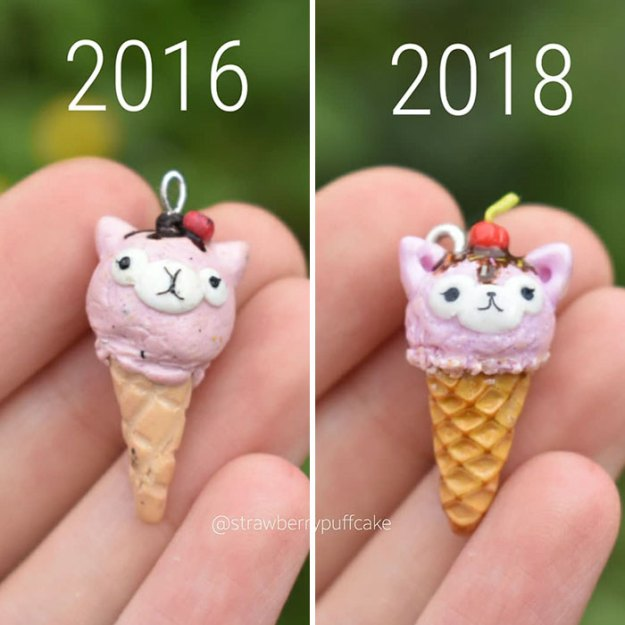 Clay-modeling-artist-showed-how-the-experience-made-him-evolve-and-this-progress-is-very-good-to-see-5b6aabbcce94a__700 Artist Tries To Recreate Her Old Artworks, Gets Pleasantly Surprised By How Much She Has Evolved (10+ Pics) Art Design Random