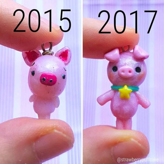 Clay-modeling-artist-showed-how-the-experience-made-him-evolve-and-this-progress-is-very-good-to-see-5b6aac7c2d8c2__700 Artist Tries To Recreate Her Old Artworks, Gets Pleasantly Surprised By How Much She Has Evolved (10+ Pics) Art Design Random
