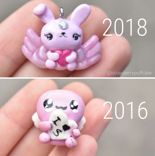 Clay-modeling-artist-showed-how-the-experience-made-him-evolve-and-this-progress-is-very-good-to-see-5b6aac8357ee7__700 Artist Tries To Recreate Her Old Artworks, Gets Pleasantly Surprised By How Much She Has Evolved (10+ Pics) Art Design Random