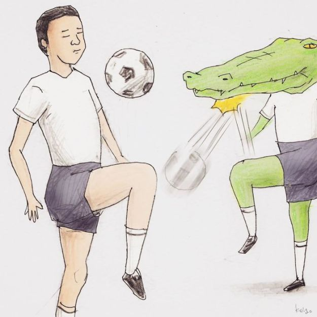 crocodile-life-animals-illustrations-keigo-japan-13-5b7a7ce1809d1__700 20+ Problems Of A Crocodile Hilariously Illustrated By Japanese Artist Keigo Design Random