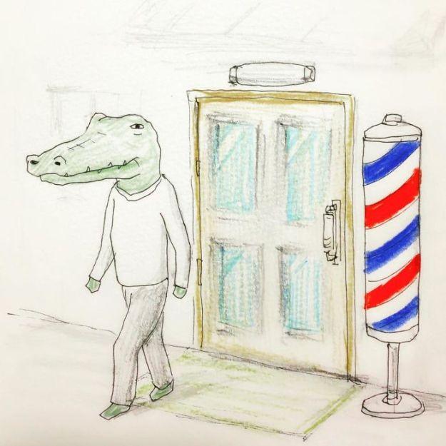 crocodile-life-animals-illustrations-keigo-japan-3-5b7a7cc7d0cc3__700 20+ Problems Of A Crocodile Hilariously Illustrated By Japanese Artist Keigo Design Random