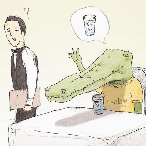 crocodile-life-animals-illustrations-keigo-japan-31-5b7a7d1650789__700 20+ Problems Of A Crocodile Hilariously Illustrated By Japanese Artist Keigo Design Random